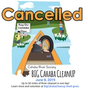 Big Cahaba Cleanup canceled due to severe weather conditions